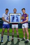 10 May 2017; Bord Gáis Energy today launched its new #HurlingToTheCore campaign at Croke Park to mark the beginning of a summer of hurling.  #HurlingToTheCore celebrates Bord Gáis Energy's belief that hurling is more than a sport or pastime - it is deeply ingrained in Irish history and stitched into our national identity.   In attendance at the Bord Gáis Energy Summer of Hurling Launch are, from left, Patrick Curran of Waterford, Joe Canning of Galway and Conor McDonald of Wexford. Croke Park in Dublin.   Photo by Sam Barnes/Sportsfile