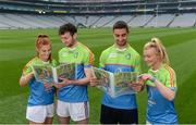 12 May 2017; Cúl Heroes ambassadors, from left, Collette Dormer of Kilkenny, Pádraic Mannion of Galway, James McCarthy of Dublin, and Carla Rowe of Dublin, in attendance at the Cúl Heroes 2017 Trading Card and Magazine launch at Croke Park in Dublin. Photo by Piaras Ó Mídheach/Sportsfile
