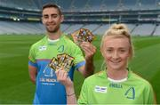 12 May 2017; Dublin's James McCarthy and Carla Rowe in attendance at the Cúl Heroes 2017 Trading Card and Magazine launch at Croke Park in Dublin. Photo by Piaras Ó Mídheach/Sportsfile