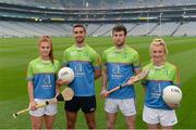 12 May 2017; Cúl Heroes ambassadors, from left, Collette Dormer of Kilkenny, James McCarthy of Dublin, Pádraic Mannion of Galway, and Carla Rowe of Dublin, in attendance at the Cúl Heroes 2017 Trading Card and Magazine launch at Croke Park in Dublin. Photo by Piaras Ó Mídheach/Sportsfile