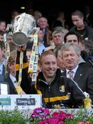 4 September 2011; James 'Cha' Fitzpatrick, Kilkenny, lifts the Liam MacCarthy Cup. GAA Hurling All-Ireland Senior Championship Final, Kilkenny v Tipperary, Croke Park, Dublin. Picture credit: Ray McManus / SPORTSFILE