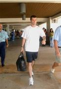 24 May 2002; The former Republic of Ireland captain Roy Keane at Saipan International Airport. Soccer. Cup2002. Picture credit; David Maher / SPORTSILE *EDI*