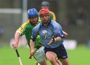 26 May 2002; David Sweeney, Dublin, in action against Cathal Sheridan, Meath. Dublin v Meath, Leinster Senior hurling Championship, O'Connor Park, Tullamore, Co. Offaly. Picture credit; Matt Browne / SPORTSFILE