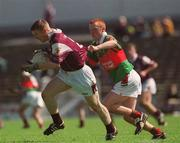 19 May 2002; Kieran McGrath, Galway, is tackled by John Prenty, Mayo. Galway v Mayo, Connacht Minor Football Championship, Dr. Hyde Park, Roscommon. Picture credit; Brian Lawless / SPORTSFILE
