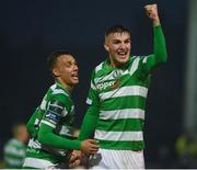 12 May 2017; Sean Boyd, right, of Shamrock Rovers celebrates with Graham Burke at the end of the SSE Airtricity League Premier Division game between Bohemians and Shamrock Rovers at Dalymount Park in Dublin. Photo by David Maher/Sportsfile