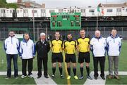 7 May 2017; Referee David Gough and his officials prior to the Connacht GAA Football Senior Championship Preliminary Round match between New York and Sligo at Gaelic Park in the Bronx borough of New York City, USA. Photo by Stephen McCarthy/Sportsfile