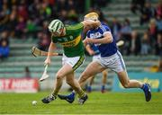 14 May 2017; Padraig Boyle of Kerry in action against Leigh Bergin of Laois during the Leinster GAA Hurling Senior Championship Qualifier Group Round 3 game between Kerry and Laois at Austin Stack Park in Tralee, Co Kerry. Photo by Ray McManus/Sportsfile