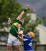 14 May 2017; Shane Nolan of Kerry wins possession ahead of Dwane Palmer of Laois before scoring a goal in the 37th minute during the Leinster GAA Hurling Senior Championship Qualifier Group Round 3 game between Kerry and Laois at Austin Stack Park in Tralee, Co Kerry. Photo by Ray McManus/Sportsfile