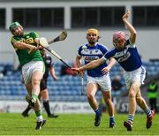 14 May 2017; Mikey Boyle of Kerry in action against Ciarán Collier of Laois during the Leinster GAA Hurling Senior Championship Qualifier Group Round 3 game between Kerry and Laois at Austin Stack Park in Tralee, Co Kerry. Photo by Ray McManus/Sportsfile