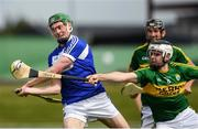14 May 2017; Patrick Purcell of Laois in action against Jack Goulding of Kerry during the Leinster GAA Hurling Senior Championship Qualifier Group Round 3 game between Kerry and Laois at Austin Stack Park in Tralee, Co Kerry. Photo by Ray McManus/Sportsfile