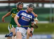 14 May 2017; John Lennon of Laois in action against Darren Dineen of Kerry during the Leinster GAA Hurling Senior Championship Qualifier Group Round 3 game between Kerry and Laois at Austin Stack Park in Tralee, Co Kerry. Photo by Ray McManus/Sportsfile