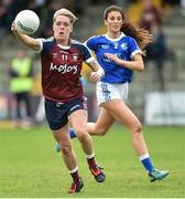 14 May 2017; Leona Archibald of Westmeath in action against Rachael Doonan of Cavan during the Lidl National Football League Division 2 Final Replay match between Westmeath and Cavan at St. Brendan's Park in Birr, Co. Offaly. Photo by Matt Browne/Sportsfile