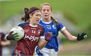 14 May 2017; Laura Lee Walsh of Westmeath in action against Neasa Byrd of Cavan during the Lidl National Football League Division 2 Final Replay match between Westmeath and Cavan at St. Brendan's Park in Birr, Co. Offaly. Photo by Matt Browne/Sportsfile