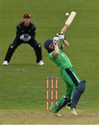 14 May 2017; Niall O'Brien of Ireland avoids a ball from Colin Munro of New Zealand during the One Day International match between Ireland and New Zealand at Malahide Cricket Club in Dublin. Photo by Brendan Moran/Sportsfile