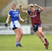 14 May 2017; Leona Archibald of Westmeath celebrates after scoring a goal against Cavan during the Lidl National Football League Division 2 Final Replay match between Westmeath and Cavan at St. Brendans Park in Birr, Co. Offaly. Photo by Matt Browne/Sportsfile
