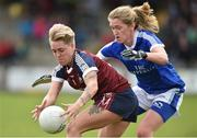 14 May 2017; Leona Archibald of Westmeath in action against Ailish Cornyn of Cavan during the Lidl National Football League Division 2 Final Replay match between Westmeath and Cavan at St. Brendans Park in Birr, Co. Offaly. Photo by Matt Browne/Sportsfile