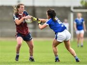 14 May 2017; Lucy McCarthy of Westmeath in action against Sinead Greene of Cavan during the Lidl National Football League Division 2 Final Replay match between Westmeath and Cavan at St. Brendans Park in Birr, Co. Offaly. Photo by Matt Browne/Sportsfile