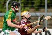 14 May 2017; Shane Power of Westmeath in action against Cathal McCabe of Meath during the Leinster GAA Hurling Senior Championship Qualifier Group Round 3 match between Westmeath and Meath at TEG Cusack Park in Mullingar, Co. Westmeath. Photo by Piaras Ó Mídheach/Sportsfile