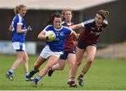 14 May 2017; Sinead Greene of Cavan in action against Laura Brennan of Westmeath during the Lidl National Football League Division 2 Final Replay match between Westmeath and Cavan at St. Brendans Park in Birr, Co. Offaly. Photo by Matt Browne/Sportsfile