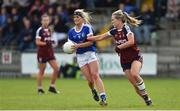 14 May 2017; Donna English of Cavan in action against Rebecca Dunne of Westmeath during the Lidl National Football League Division 2 Final Replay match between Westmeath and Cavan at St. Brendans Park in Birr, Co. Offaly. Photo by Matt Browne/Sportsfile