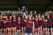 14 May 2017; Laura Lee Walsh captain of Westmeath lifts the cup after the Lidl National Football League Division 2 Final Replay match between Westmeath and Cavan at St. Brendans Park in Birr, Co. Offaly. Photo by Matt Browne/Sportsfile