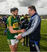 14 May 2017; Laois manager Eamonn Kelly and Rory Horgan of Kerry after the Leinster GAA Hurling Senior Championship Qualifier Group Round 3 game between Kerry and Laois at Austin Stack Park in Tralee, Co Kerry. Photo by Ray McManus/Sportsfile