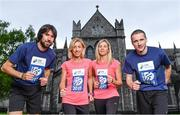 15 May 2017; Olympian Mick Clohisey, International athlete, Clare Gibbons-McCarthy, reigning national champion, Laura Graham and  two-time national marathon champion Sean Hehir, today launched the SSE Airtricity Dublin Marathon and Race Series at St Patrick's Cathedral, Dublin. All marathon finishers will receive a commemorative medal to mark the 350th anniversary of writer Jonathon Swift's birth, with the race route passing St Patrick's Cathedral, Dublin where Swift was Dean.   Photo by Sam Barnes/Sportsfile