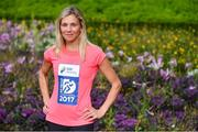 15 May 2017; 2016 national marathon champion and mum of four, Laura Graham, today launched the SSE Airtricity Dublin Marathon and Race Series at St Patrick's Cathedral, Dublin. All marathon finishers will receive a commemorative medal to mark the 350th anniversary of writer Jonathon Swift's birth, with the race route passing St Patrick's Cathedral, Dublin where Swift was Dean.     Photo by Sam Barnes/Sportsfile