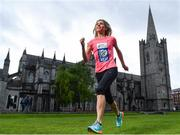 15 May 2017; 2016 national marathon champion and mum of four Laura Graham today launched the SSE Airtricity Dublin Marathon and Race Series at St Patrick's Cathedral, Dublin. All marathon finishers will receive a commemorative medal to mark the 350th anniversary of writer Jonathon Swift's birth, with the race route passing St Patrick's Cathedral, Dublin where Swift was Dean.     Photo by Sam Barnes/Sportsfile