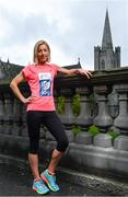 15 May 2017; : Clare Gibbons McCarthy, who has been selected to compete in the marathon at the World Athletics Championships in London in August,  today launched the SSE Airtricity Dublin Marathon and Race Series at St Patrick's Cathedral, Dublin. All marathon finishers will receive a commemorative medal to mark the 350th anniversary of writer Jonathon Swift's birth, with the race route passing St Patrick's Cathedral, Dublin where Swift was Dean  Photo by Sam Barnes/Sportsfile