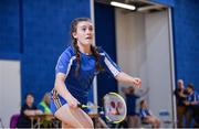 6 May 2017; Aoife Campbell of FBD Roads, Co Roscommon, competing in the U15 and O12 Girl's Badminton during the Aldi Community Games May Festival 2017 at National Sports Campus, in Abbotstown, Dublin.  Photo by Sam Barnes/Sportsfile