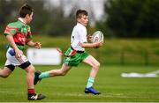 6 May 2017;  Diarmuid O'Riordan of Monaghan Town, Co Monaghan, competing in the U14 and O11 mixed tag rugby during the Aldi Community Games May Festival 2017 at National Sports Campus, in Abbotstown, Dublin. Photo by Sam Barnes/Sportsfile
