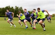 15 May 2017; Munster players, from left, Conor Murray, Angus Lloyd, Rory Scannell, Ian Keatley, Darren Sweetnam, and David Johnston during squad training at the University of Limerick in Limerick. Photo by Diarmuid Greene/Sportsfile