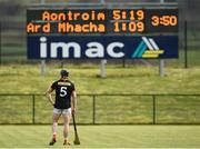 16 April 2017; John Corvan of Armagh looking at the scoreboard near the end of the game during the Ulster GAA Hurling Senior Championship Final match between Antrim and Armagh at the Derry GAA Centre of Excellence in Owenbeg, Derry. Photo by Oliver McVeigh/Sportsfile