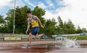 18 May 2017; Gordon O'Connor, from St Enda's College, Galway, competing in the Senior Boys Steeplechase event during the Irish Life Health Connacht Schools Track and Field Championships at A.I.T, Athlone, in Co. Westmeath. Photo by Cody Glenn/Sportsfile