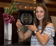18 May 2017;  Michelle Farrell of Longford Ladies Gaelic Football with The Croke Park Hotel & LGFA Player of the Month Award for April at The Croke Park, Jones Road, in Dublin. Photo by Ray McManus/Sportsfile