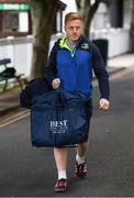 19 May 2017; James Tracy of Leinster arrives prior to the Guinness PRO12 Semi-Final match between Leinster and Scarlets at the RDS Arena in Dublin. Photo by Stephen McCarthy/Sportsfile