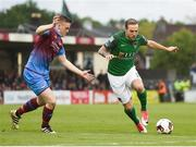 19 May 2017; Karl Sheppard of Cork City in action against Richie Purdy of Drogheda United during the SSE Airtricity League Premier Division game between Cork City and Drogheda United at Turners Cross in Cork. Photo by Eóin Noonan/Sportsfile