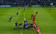 19 May 2017; Luke McGrath of Leinster during the Guinness PRO12 Semi-Final match between Leinster and Scarlets at the RDS Arena in Dublin. Photo by Ramsey Cardy/Sportsfile