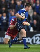 19 May 2017; Luke McGrath of Leinster is tackled by Steffan Evans of Scarlets before leaving the pitch for a head injury assessment during the Guinness PRO12 Semi-Final match between Leinster and Scarlets at the RDS Arena in Dublin. Photo by Brendan Moran/Sportsfile