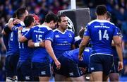 19 May 2017; Isa Nacewa of Leinster speaks to his teammates after conceding their third try during the Guinness PRO12 Semi-Final match between Leinster and Scarlets at the RDS Arena in Dublin. Photo by Ramsey Cardy/Sportsfile