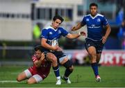 19 May 2017; Joey Carbery of Leinster is tackled by Steffan Evans of Scarlets during the Guinness PRO12 Semi-Final match between Leinster and Scarlets at the RDS Arena in Dublin. Photo by Brendan Moran/Sportsfile