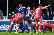 19 May 2017; Garry Ringrose of Leinster is tackled by Steff Evans of Scarlets during the Guinness PRO12 Semi-Final match between Leinster and Scarlets at the RDS Arena in Dublin. Photo by Stephen McCarthy/Sportsfile