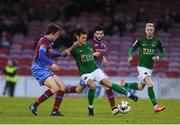 19 May 2017; Jimmy Keohane of Cork City in action against Jake Hyland of Drogheda United during the SSE Airtricity League Premier Division game between Cork City and Drogheda United at Turners Cross in Cork. Photo by Eóin Noonan/Sportsfile