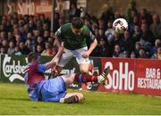 19 May 2017; Sean Maguire of Cork City in action against Luke Gallagher of Drogheda United during the SSE Airtricity League Premier Division game between Cork City and Drogheda United at Turners Cross in Cork. Photo by Eóin Noonan/Sportsfile