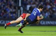 19 May 2017; Joey Carbery of Leinster is tackled by James Davies of Scarlets during the Guinness PRO12 Semi-Final match between Leinster and Scarlets at the RDS Arena in Dublin. Photo by Stephen McCarthy/Sportsfile