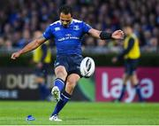 19 May 2017; Isa Nacewa of Leinster kicks a conversion which came back off the upright during the Guinness PRO12 Semi-Final match between Leinster and Scarlets at the RDS Arena in Dublin. Photo by Stephen McCarthy/Sportsfile