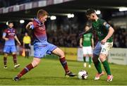 19 May 2017; Sean Maguire of Cork City in action against Stephen Dunne of Drogheda United during the SSE Airtricity League Premier Division game between Cork City and Drogheda United at Turners Cross in Cork. Photo by Eóin Noonan/Sportsfile