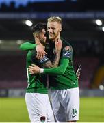 19 May 2017; Sean Maguire, left, celebrates with team-mate Kevin O'Connor of Cork City after the SSE Airtricity League Premier Division game between Cork City and Drogheda United at Turners Cross in Cork. Photo by Eóin Noonan/Sportsfile