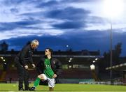 19 May 2017; Cork City manager John Caulfield speaking to Jimmy Keohane of Cork city after the SSE Airtricity League Premier Division game between Cork City and Drogheda United at Turners Cross in Cork. Photo by Eóin Noonan/Sportsfile